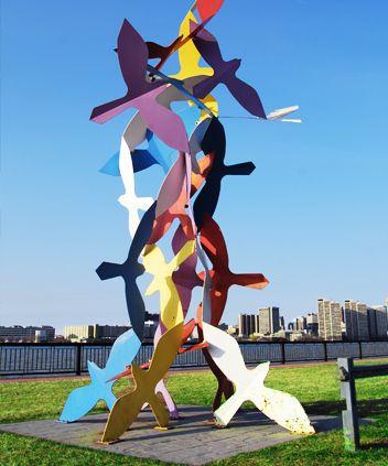 Self Guided Walking Tour & Scavenger Hunt   Windsor Art Sculptures #Discover #windsor #ontario #tour #art UrbanQuest.com