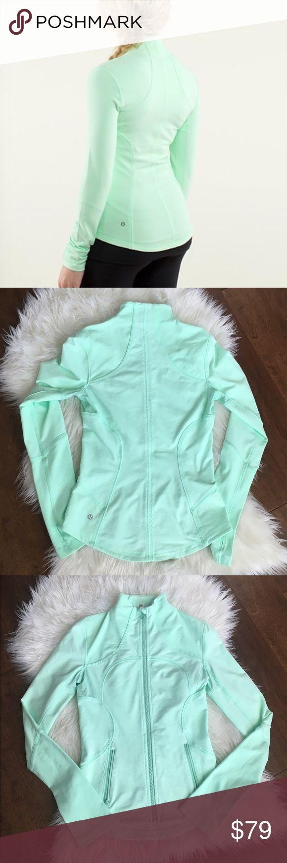 Lululemon mint jacket Lululemon mint jacket in like new condition beautiful color lululemon athletica Jackets & Coats