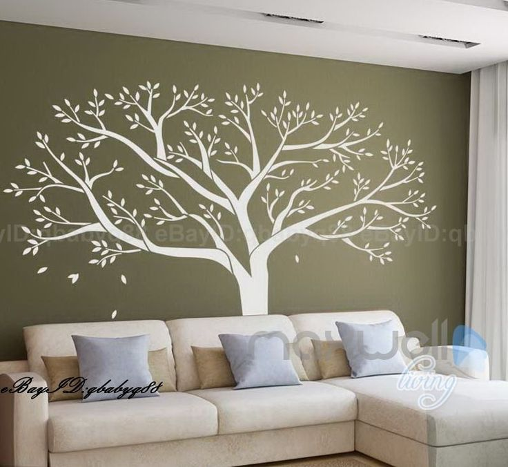 Giant Family Tree Wall Sticker Vinyl Art Home Decals Room Decor Mural  Family Tree Wall, Tree ...
