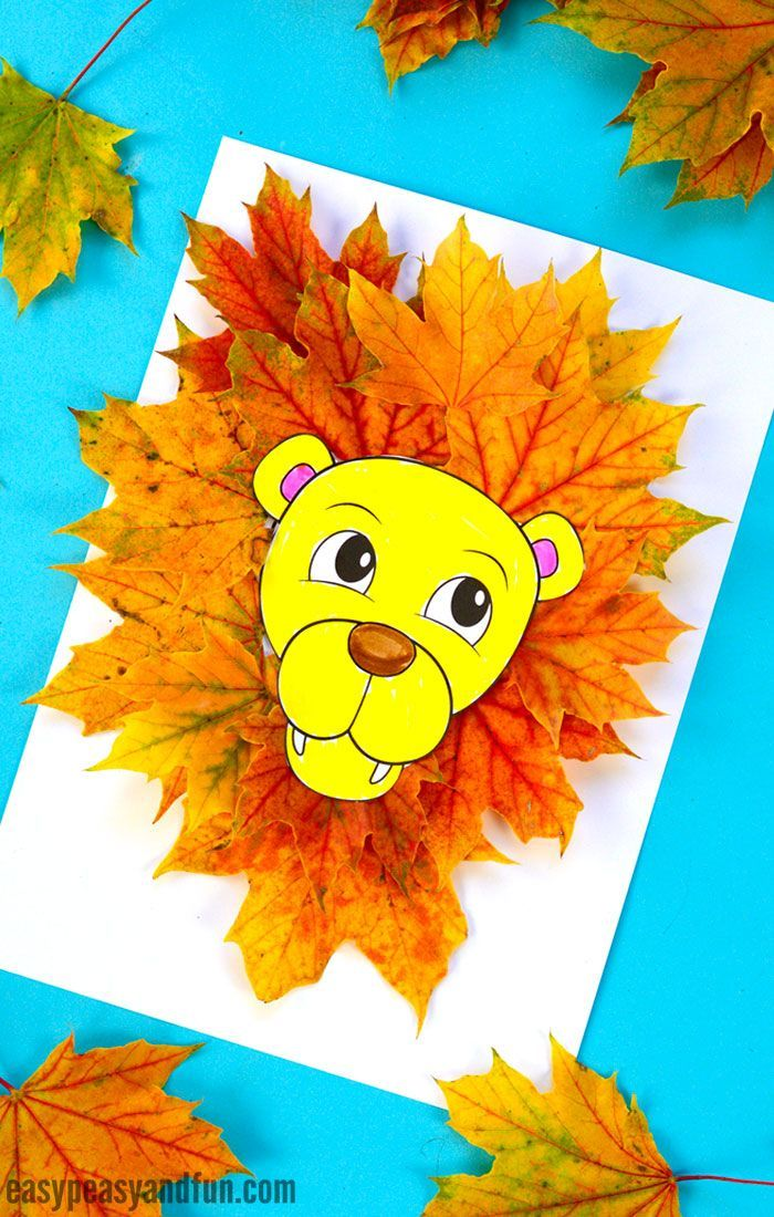 Lion Leaf Craft Template