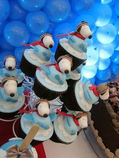 Festeggiare Bambini: Snoopy Aviador para o Enzo