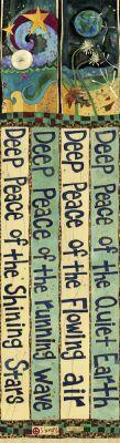 """""""Hluboký mír"""" 6 """"Peace Pole z vtípků umění na Storenvy"""