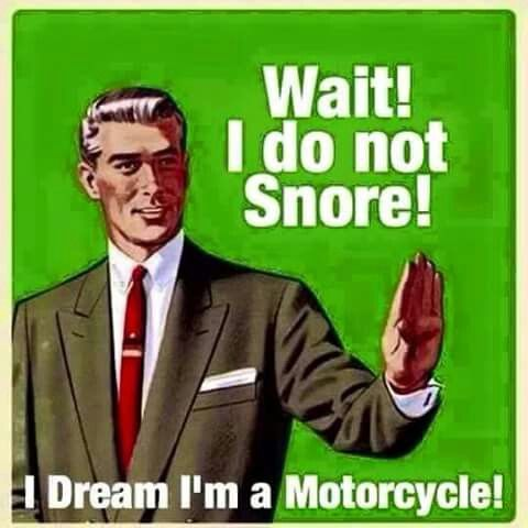 Wait!...I do not snore!...