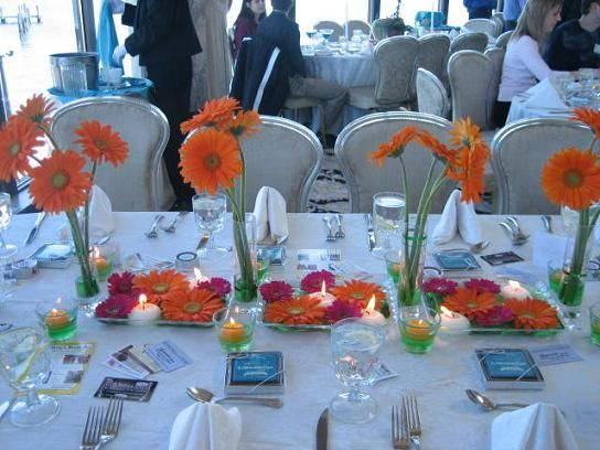 23 best prom centerpiece ideas images on pinterest centrepiece gerbera daisies all the style details forums brides junglespirit Gallery