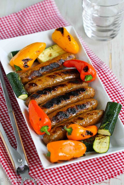 Mixed Grill Recipe with Sausages, Mini Peppers & Zucchini | cookincanuck.com by CookinCanuck, via Flickr