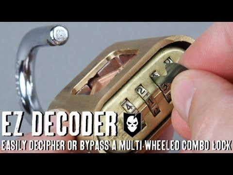 EZ Decoders are designed to open multi-wheeled combination locks, either by deciphering the actual combination, or bypassing it completely. $10