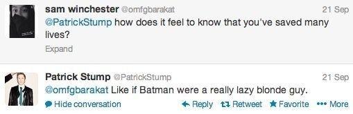 (16) patrick stump tweets | Tumblr