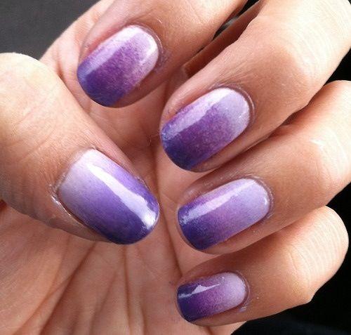 Purple sponge nails!