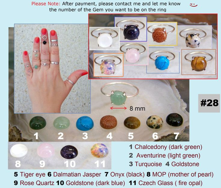 Catalog #10. Sterling Silver Band or Midi Rings with Gems and Crystals. 4 Various Designs. Any size available. by SilverTrend4U on Etsy
