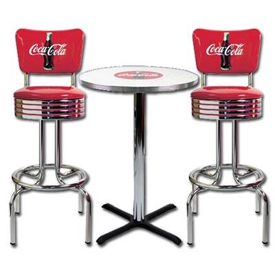 Coca Cola Barstool And Table Set