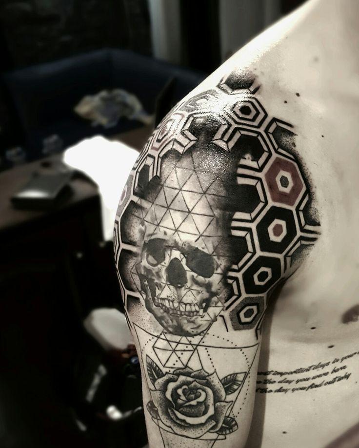 @brolinkosta #skull #paterns #tattoo