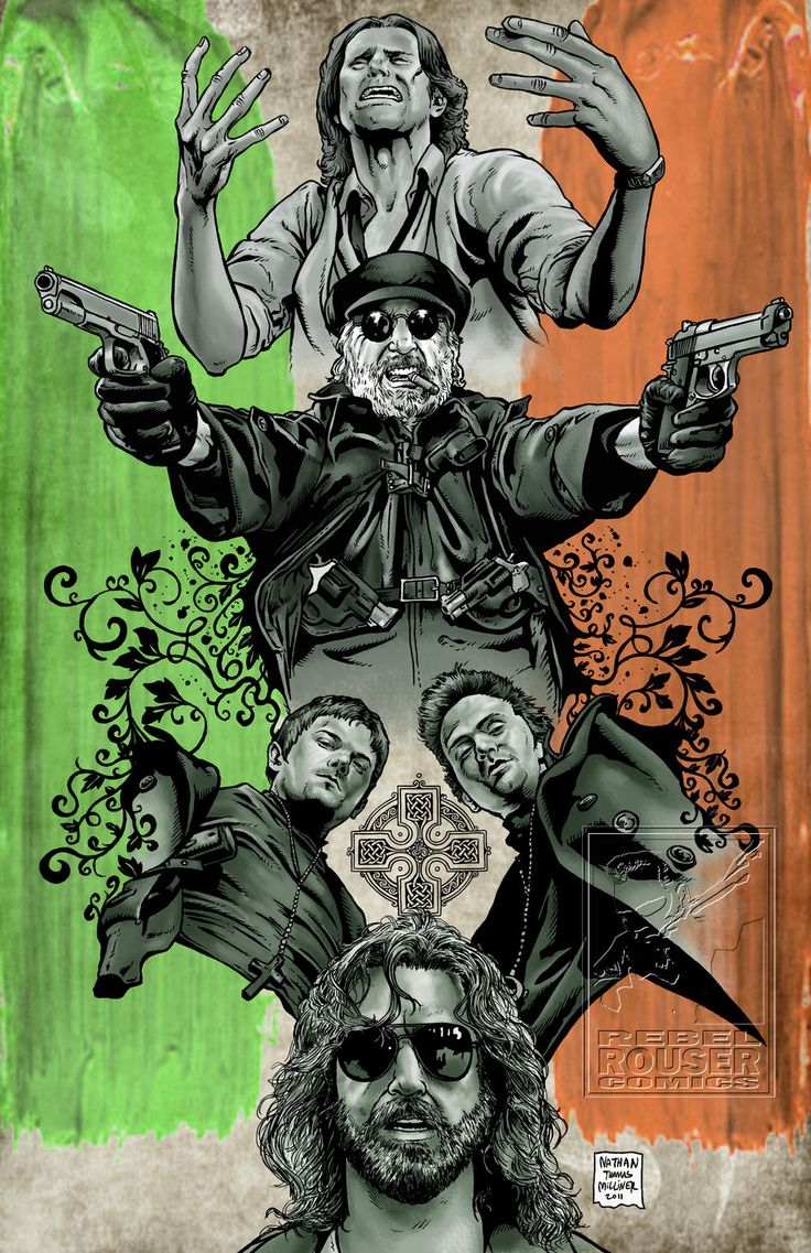 BOONDOCK SAINTS.. my favorite movie becauce of the Irish Heritage i share with the brothers. plus its just awesome! :)