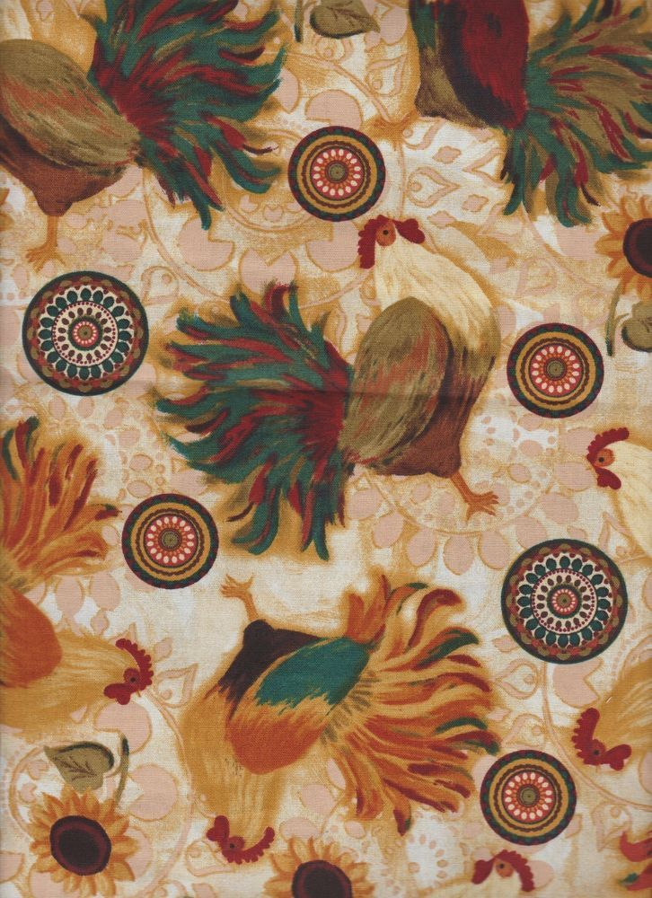 country kitchen fabric roosters chicken country kitchen fabric window 2793