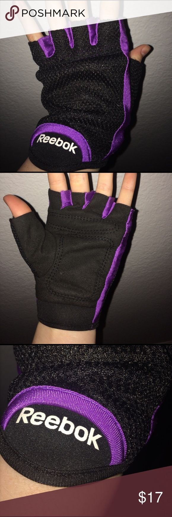Woman's reebok fingerless cycling gloves In great condition! Fingerless cycling gloves for women. Great stitching and color detail. Very comfortable and reliable. Reebok Other