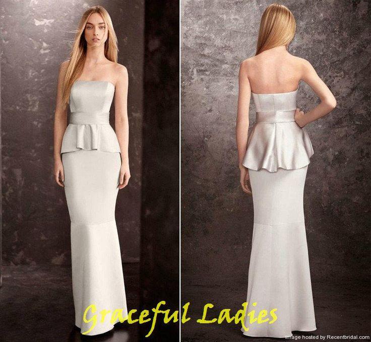 17 best ideas about peplum bridesmaid dresses on pinterest for Peplum dresses for wedding guest