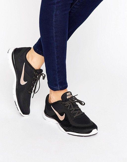 Nike | Nike Flex 6 Trainers In Black And Metallic Gold