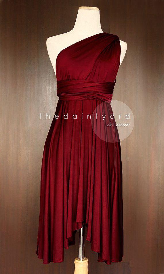 Wein rot Brautjungfer Kleid Cabrio Kleid Infinity von thedaintyard