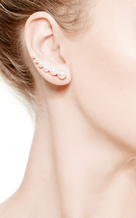 Croissant De Perle  Earring For Right Ear by Sophie Bille Brahe for Preorder on Moda Operandi