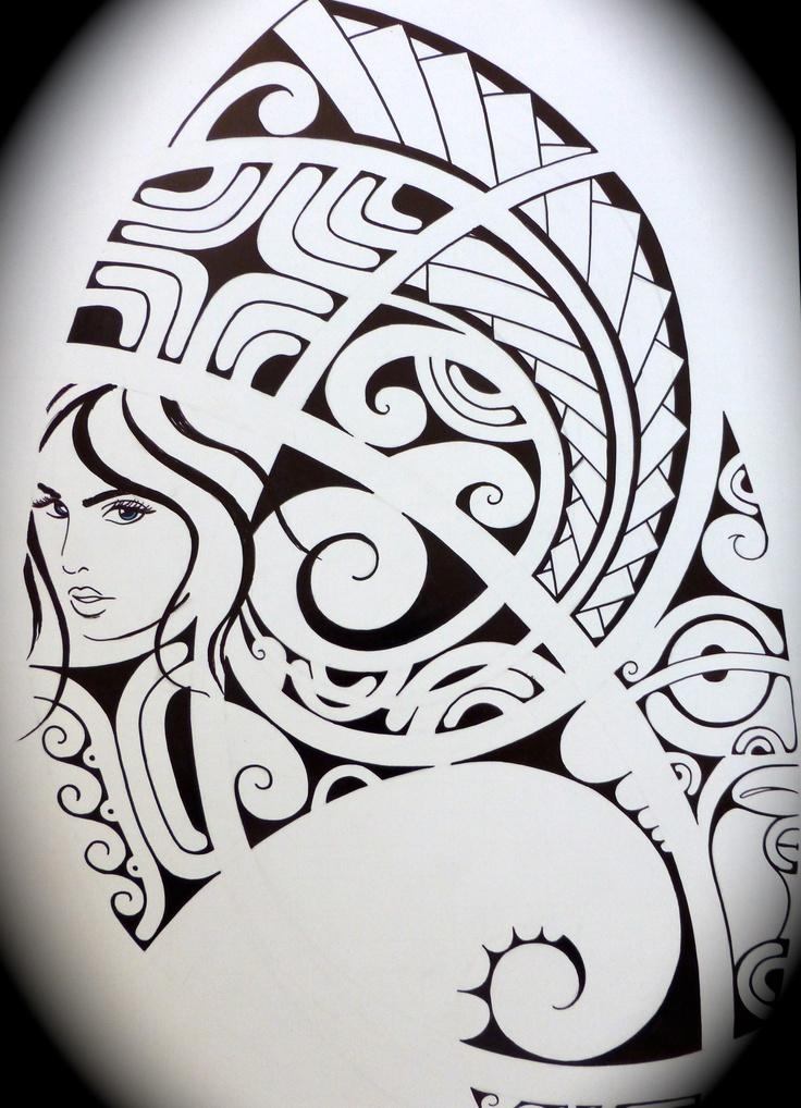 Polynesian Tattoo Drawing