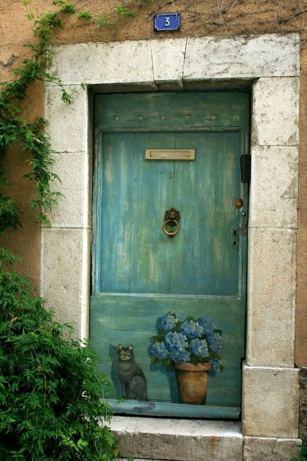 Idées de portes peintes