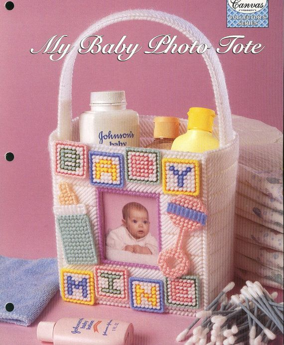 Baby Photo Tote Plastic Canvas Pattern by needlecraftsupershop, $3.50