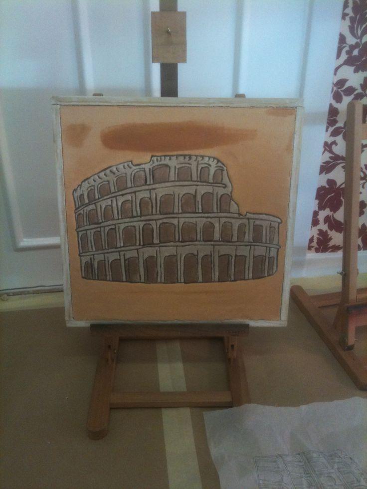 fresco paint, school project