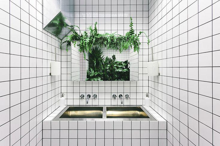 Interiors in ORANG+UTAN Vegetarian Bar designed by Kateryna Zuieva See more: https://mindsparklemag.com/design/orangutan-vegetarian-bar/  More news: Like @Mindsparkle Mag on Facebook