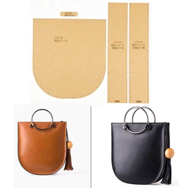 1set bricolage en cuir fait predominant artisanat femmes sac à predominant sac à bandoulière motif de couture papier Kraft dur pochoir modèle 220x240x55mm