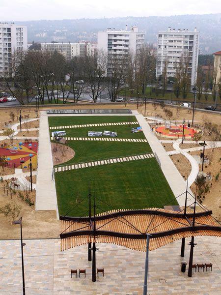 aménagement de la place-jardin gutenberg Caluire-et-Cuire (69)