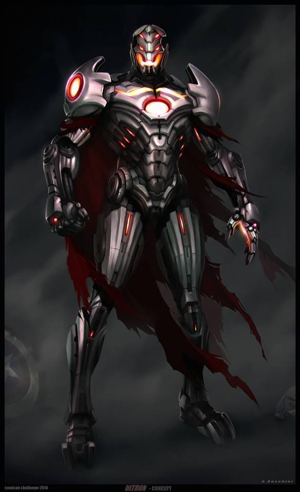 "Early concept art of Ultron from Marvel's ""Avengers: Age of Ultron"" (2015)."