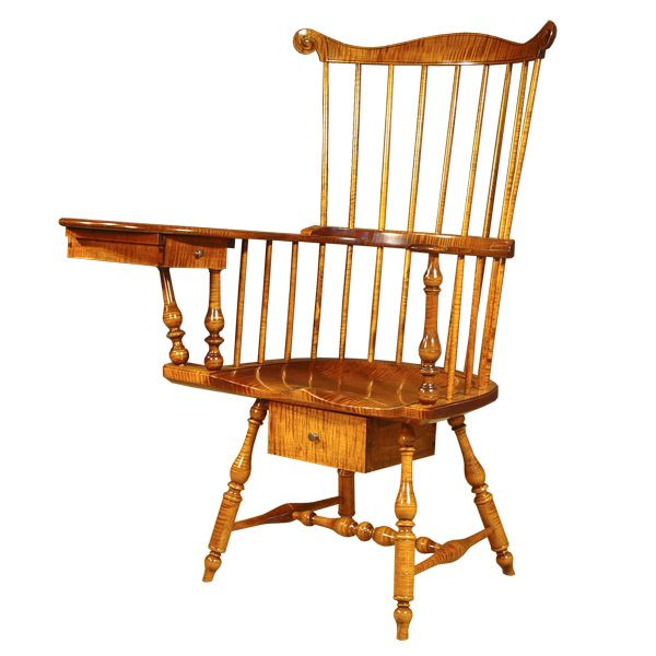 Antique Writing Chair | Antique Reproduction Writing Arm Chairs  Philadelphia Writing Arm Chair .