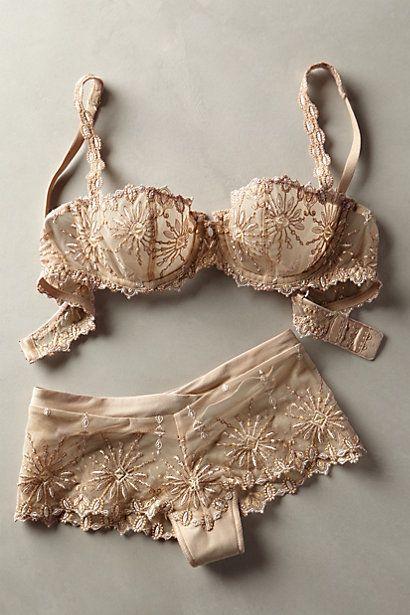 Um conjuntinho simplesmente delicado e charmoso. Ugh. So beautiful, this set. Chantelle Vendome Hipsters - anthropologie.com
