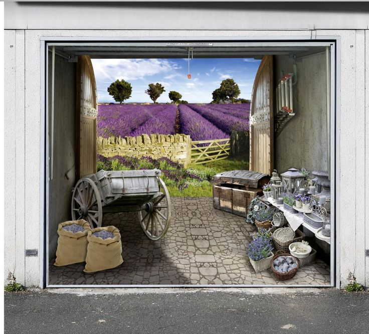 Style Your Garage Creative 3d Garage Doors Stickers: 17 Best Images About Garage Door Murals On Pinterest
