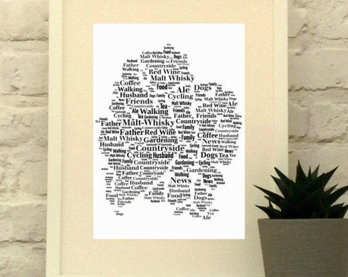 Lake District Map Personalised Print - Map Typography- Map Art - Gift for Hiker - Gift for Walker - Cumbria - Retirement Gift