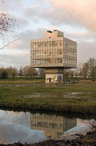 An abandoned building formerly used by IBM in Uithoorn, a town in the North Holland area of the Netherlands.