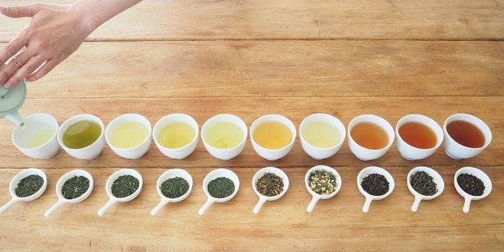 A variety of Japanese organic tea.