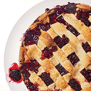 Rustic Huckleberry-Blackberry Tart | CookingLight.com