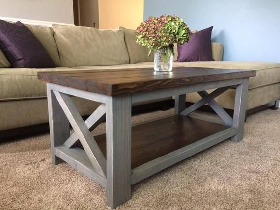 X Base Farmhouse Coffee Table In 2020 Diy Coffee Table Coffee Table Design Country Furniture