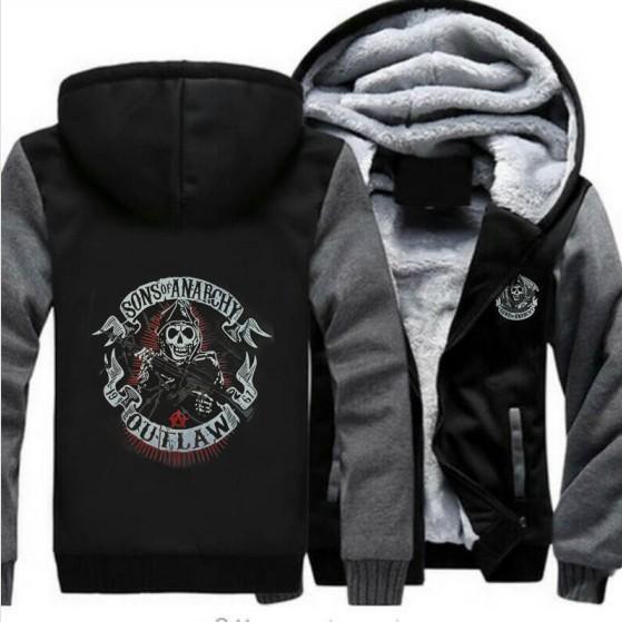 Sons Anarchy Samcro Jax Spring Summer Print Jacket Coat Thicken Sweaterwear US EU Size Plus Size S-6XL 4 Colour #5