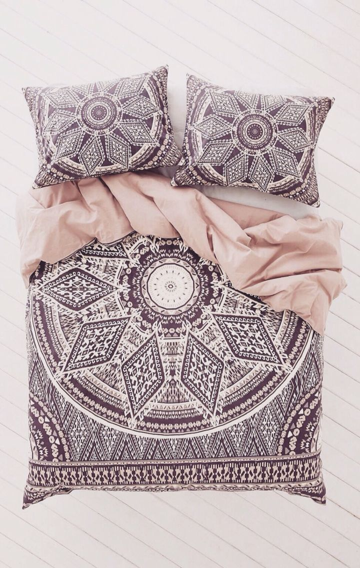 Queen new york luxembourg comforter set in antique silver bed - Stunning Boho Mandala Cover Pillowslips Love The Pattern Love The Color Combo