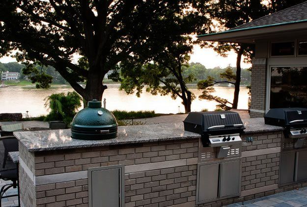Big Green Egg, Charcoal Grill Outdoor Kitchen Blue Ridge Landscaping Holland, MI