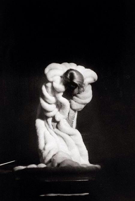 Marlene Dietrich taking a bow 1964 by Arno Fischer