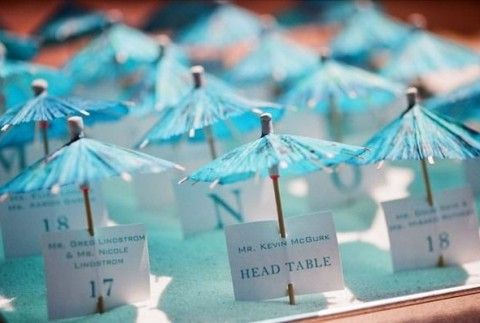 62 Creative Beach Wedding Escort Cards Ideas | HappyWedd.com