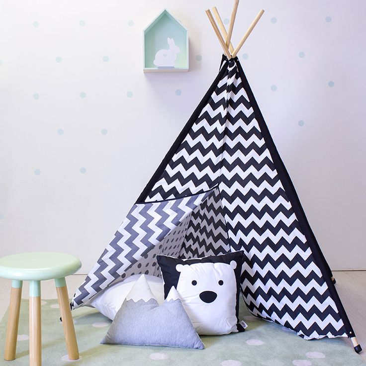 Teepees are ideal for kids to spend quiet time and play in.