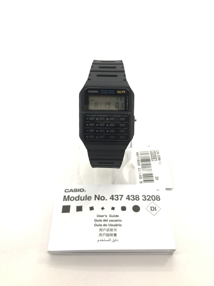 NEW Casio Classic Calculator Mens Quartz Watch  CA-53W-1Z