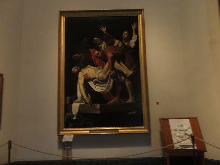 Caravaggio  Musei Vaticani カラヴァッジョ キリストの埋葬 ヴァチカン美術館