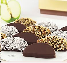 Candy Apple Slices. Wondering if I could do this with caramel. Always find whole caramel apples awkward to eat.