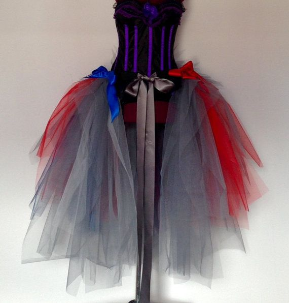 French Grey Red Blue Bustle With Satin Ribbon Tie Front Metres Of Tulle Simply Stunning Can Be Made In Different Colours Custom Orders Are Welcome