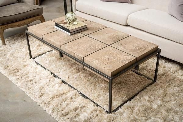 Ideas For Making This Beautiful Wood And Metal Table Taller Wood And Metal Table Metal Table Wood And Metal