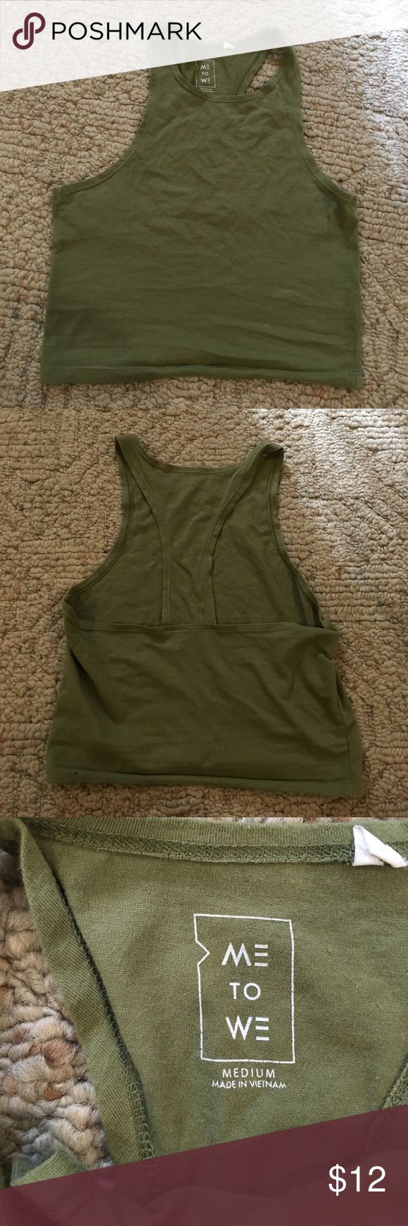 Pacsun green razorback tank top Super cute green razorback tank from pacsun. Listed as medium but could fit XS and S as well. Bundle to save!! Smoke free household PacSun Tops Tank Tops